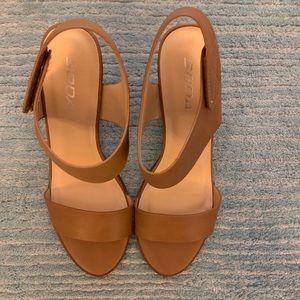 Soda stacked heel sandals